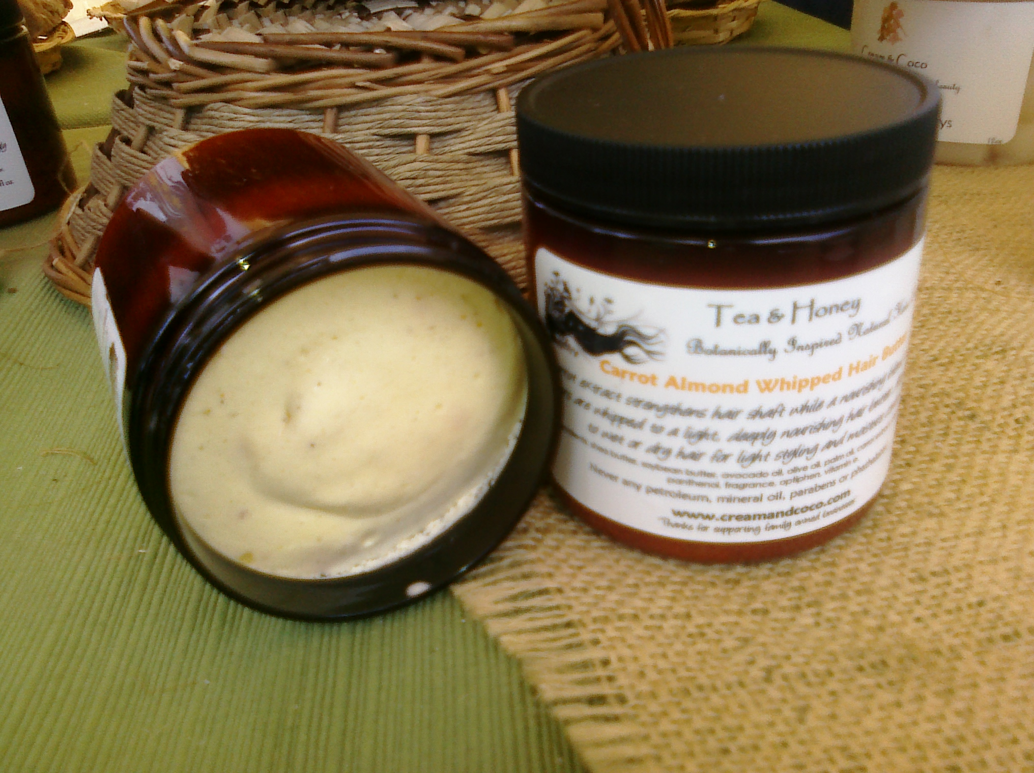 Carrot Almond Whipped Shea Frosting