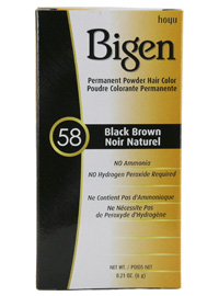 #58 Black Brown Permanent Powder Hair Color