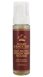 Honey & Black Seed Heat Protect Keratin Wrap Mousse