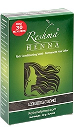 Henna Powder Rich Conditioning Semi-Permanent Hair Color - Natural Black