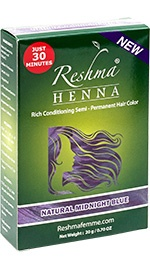 Henna Powder Rich Conditioning Semi-Permanent Hair Color - Natural Midnight Blue