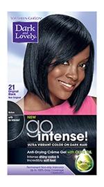 dark and lovely go intense hair color original black