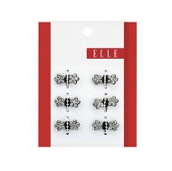 Elle 6pk Mini Rhinestones Jaw Clips