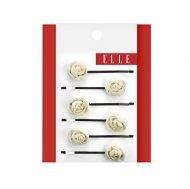 Elle 6pk Mini Rosette Bobby Pins