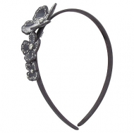 France Luxe Studded Monet Flower Headband