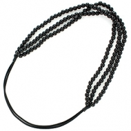 France Luxe Triple Strand Pearl Headwrap