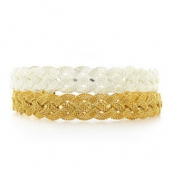 France Luxe Woven Braid Metal Headband