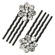 KARINA 2 Piece Mini Flower Combs