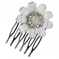 KARINA Snow Flower Rhinestone Comb