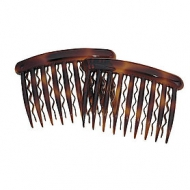 KARINA Tortoise Side Combs for thin hair