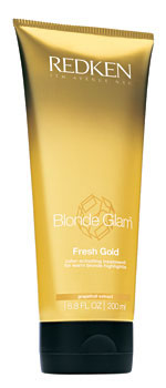 Blonde Glam Fresh Gold color-activating treatment for warm blonde highlights