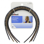 Scunci 4pk Thin Plastic Headbands