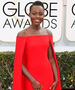 Get the Look: Lupita Nyong'o's Golden Globes Hair
