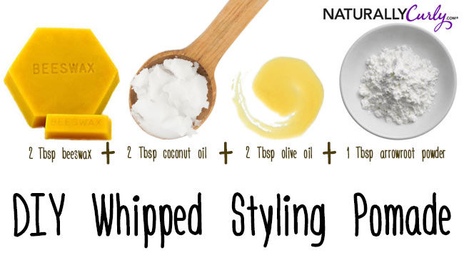 Homemade Whipped Styling Pomade