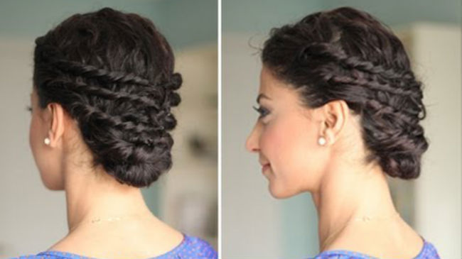 curly hairstyle for prom