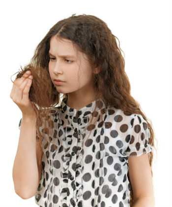 inspecting hair