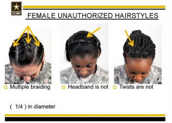 army regulation hair
