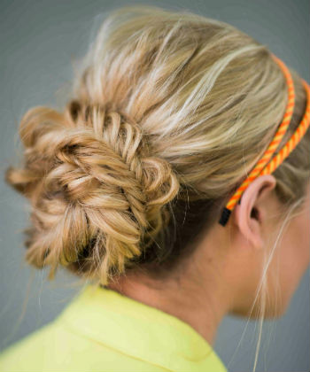 braided fishtail bun
