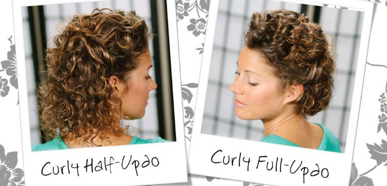 Wedding Hairdos For Naturally Curly Hair : Watch wedding inspired updo for short curly hair