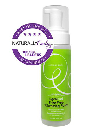 devacurl frizz free volumizing foam