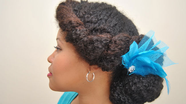 A Formal Updo For Naturally Curly Hair