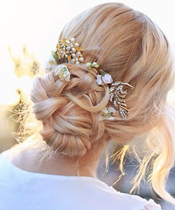 Evelina Barry's DIY Bridal Updo