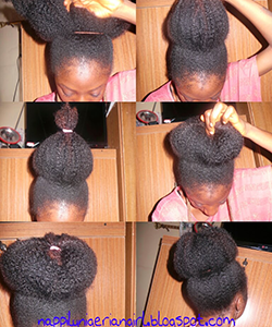 How to Get a Really Big Natural Hair Bun