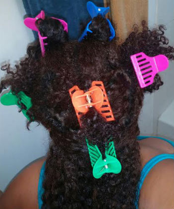 clip your hair in sections
