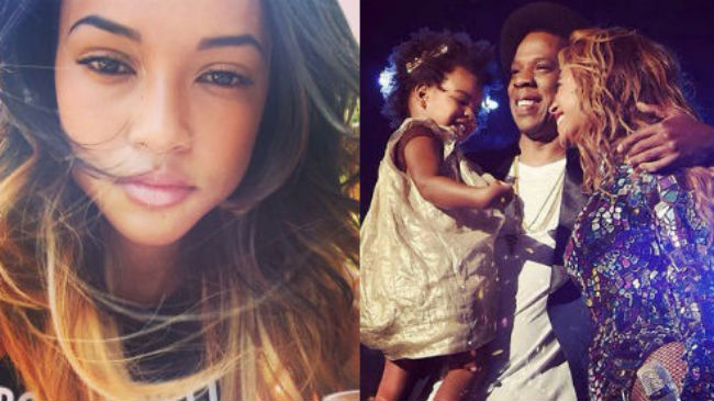 chris brown girlfriend and blue ivy baby