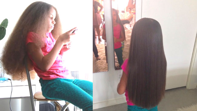 Finally A Way To Straighten Your Daughter S Hair Without