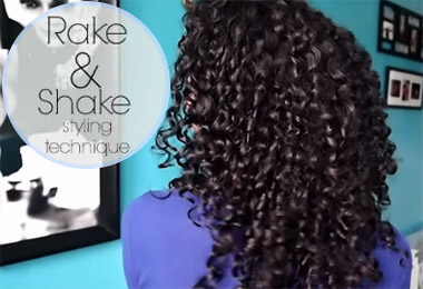 The Rake & Shake Method for Softest Touchable Curls