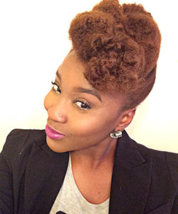 Stumped for a Winter Protective Style? Try This Textured Pompadour Tutorial