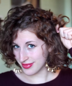 Cute Curly Updo for Short Hair