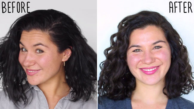 Hair essentials before and after