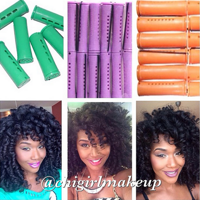 natural nappy hairstyles : Perm Rods On Natural Hair