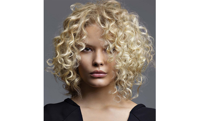 A Line Bob Naturally Curly Hair