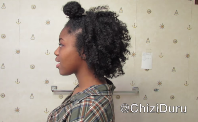 4c Hairstyles Braids: 4C Ninja Bun Braid-Out Tutorial
