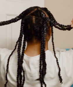 Polished, Defined Twist-Out On Waist Length Curls