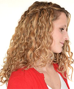 How to Do a Waterfall Braid on Curly Hair