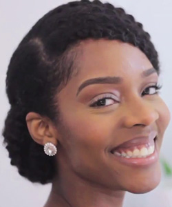 3 Stunning Natural Hairstyles for Your Wedding or Prom