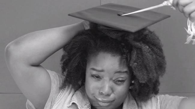 Graduation Cap Vs Natural Hair Video