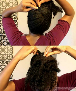 2-Minute Updo for Putting Off Wash Day