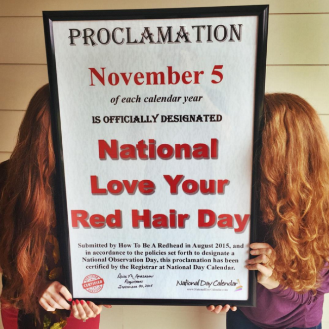 National Kiss And Makeup Day: Natural Redheads Rejoice: Now There's A National Holiday