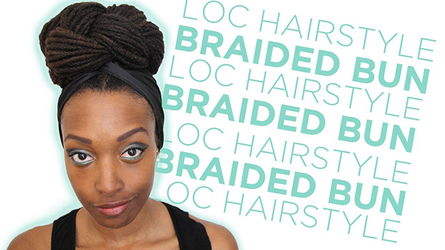 braided bun loc hairstyle