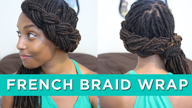 french braid wrap
