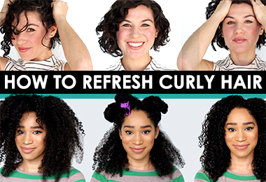 How to Style Curly Second Day Hair