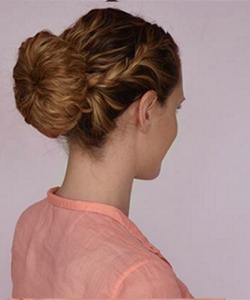 How to Do a Beautiful French Braid Bun on Curly Hair