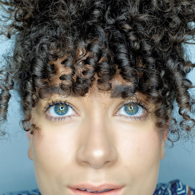 curly bangs tutorial