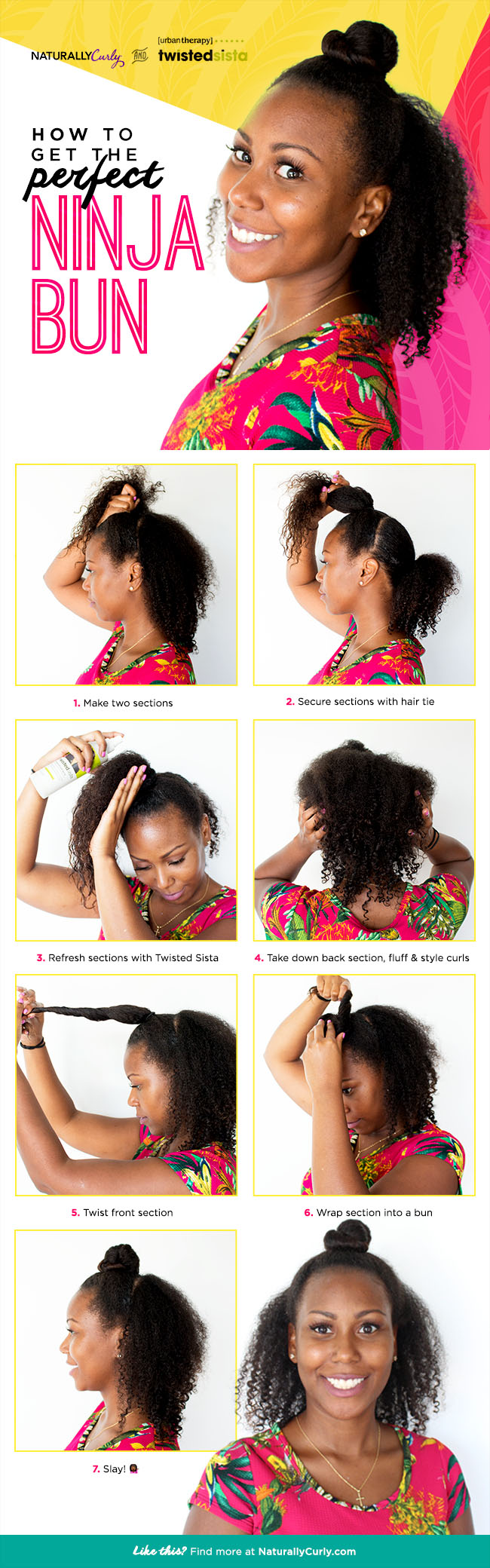 how to get curls from a bun