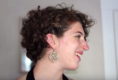 3 Super Easy Summer Hairstyles for Short Curly Hair